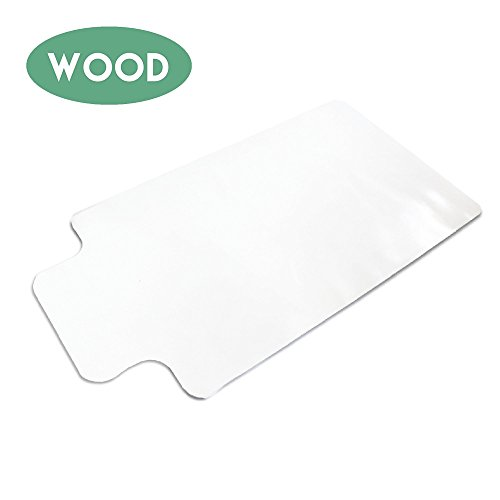 Office Chair Mat with Lip for Hardwood Floors 48 x 30 - Floor Mats for Desk Chairs - Laminated Wood Office Chair