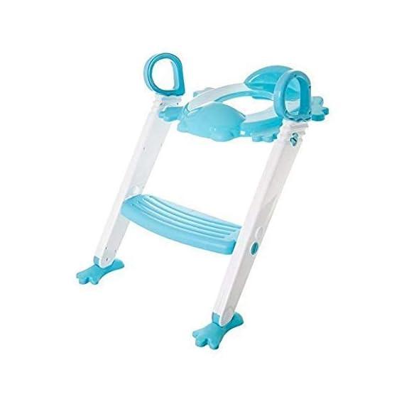 RESKA Kids 3 in 1 Potty Toilet Seat with Ladder (Blue)