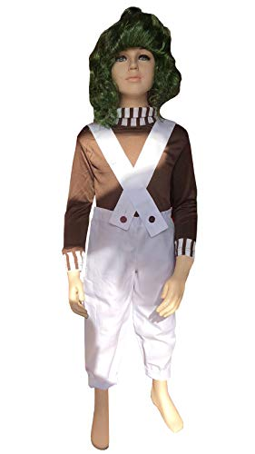 Boys Girls Oompa Loompa Fancy Dress Costume Kids World Book -