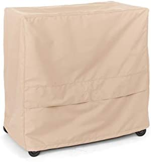 Covermates – Serving Cart Cover – 50W x 30D x 34H – Ultima – 600D Fade Resistant Polyester – Rot-Resistant Thread – Buckle Straps – 7 YR Warranty – Weather Resistant – Ripstop Tan