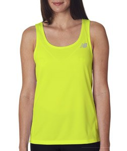 New Balance Womens' Tempo Running Singlet (Safety Green) (Large)