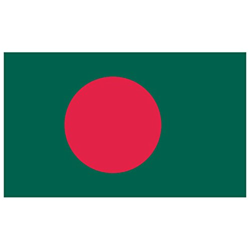 SoCal Flags® Brand Bangladesh Flag 3x5 Foot Polyester - High Quality Weather Resistant Durable - 100d Material Not See Thru Like Other Brands ()