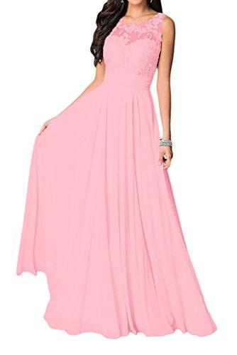 40 de redondo elegante bailar Rosa de festivo de vestido largo mangas Missdressy vestido vestido de Vestido vestido para novia sin cuello noche vestido fiesta gasa SqSCd