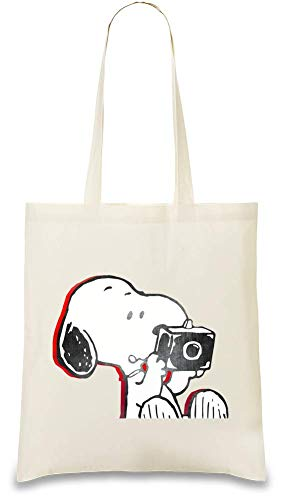 Cotton Tote Naturel Photographer For usable Soft Unique Animation Every Color Re 100 Bag Stylish friendly Photographe amp; Handbag Day Natural Eco Snoopy Custom Peanuts Printed qpvYxSx