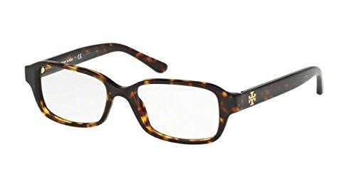 Tory Burch TY 2070 1378 Dark Tortoise Plastic Rectangle Eyeglasses - Womens Eyeglasses For Rectangle