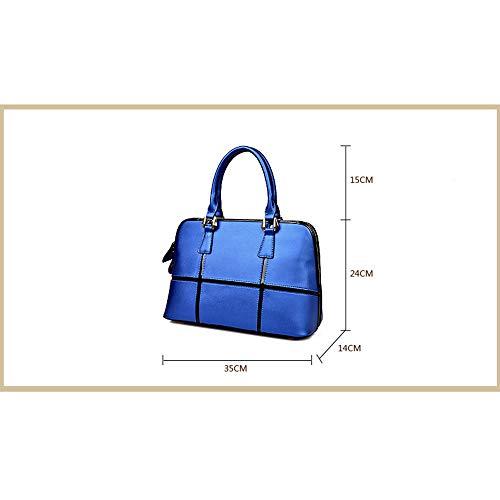 Wyfdm Simmetrico blue Disegno Dimensione Doppio Donna Black Tridimensionale In Tracolla Pelle Da Regolabile r4qfrp