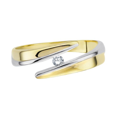 Diamond Line - 113445 - Bague Femme - Or Jaune 9 Cts 375/1000 1.8 Gr - Diamant