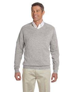 Devon & Jones Mens V-Neck Sweater (D475) -Cheerless HEATH -M