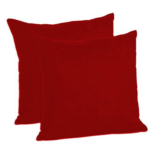 MoonRest - Faux Suede Decorative Pillow Shams Solid Colors (Set of 2) (18