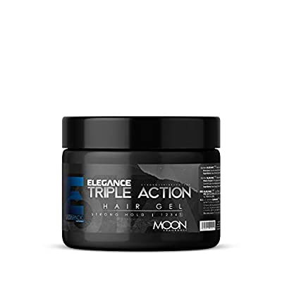 ELEGANCE GEL Strong Hold Hair Gel, Moon, 17.15 Oz