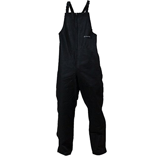 Bib Pants Rain (Compass 360 Advantage Tek Non-Woven Rain Bibs, Medium, Black)