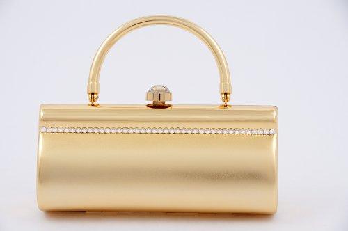Bolsa de embrague, Vivienne de Oro, de metal cepillado