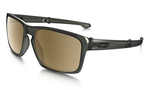 Oakley Men's Polarized Silver Foldable F Sunglasses - Matte Olive Ink/Tungsten Iridium
