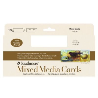 3 Pack Mixed Media Slim Size Cards (Product Catalog: Paper Media, Canvas & Surfaces)