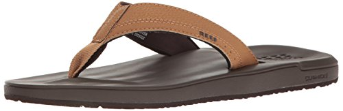 Reef Men's Sandals Contoured Cushion   Comfortable Athletic Sandals for Men, Brown, 10