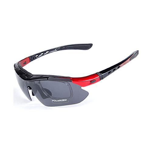 Polarized Cycling Glasses Sunglasses Men Women Acetate Frame Polycarbonate 5 Lens UV400 Fishing Goggles Running ()