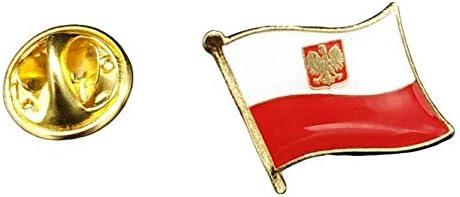 16 x 15 mm Pin de rabat drapeau de la Pologne m/âle