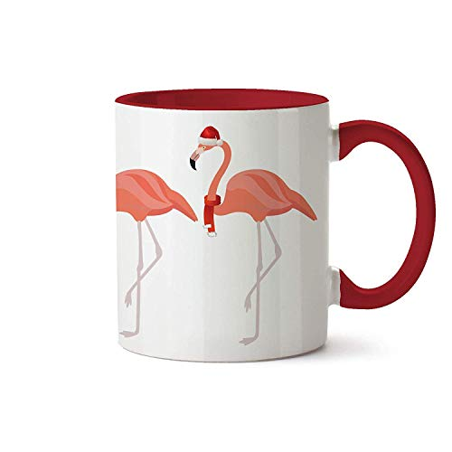 279 Tea - Funny Christmas Gifts Flamingo Coffee Mug Tea Cup Xmas Present for Him Her