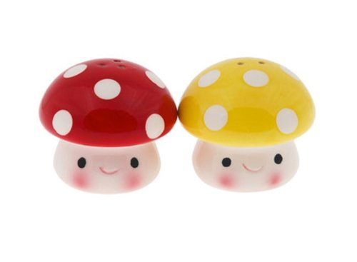 Streamline Mushroom Salt & Pepper Shakers ()