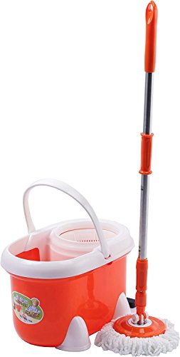 Bucket Drivers (New Leader YLJ-1703-Orange Mop with Bucket Two Drivers Magic Spin System)