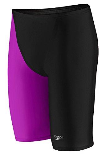 Speedo 7050711 Mens Lzr Elite 2 High Waist Jammers, Black/Purple - 28
