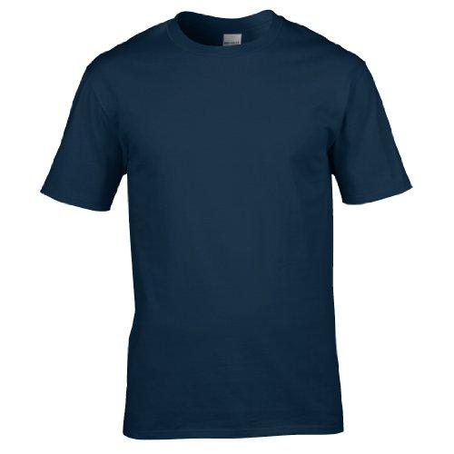 100 Blu Uomo Cotone Maglietta Navy Gildan pxwRHnTqC