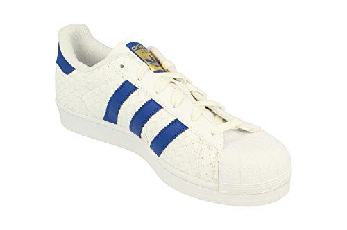 Adidas Originals Superster Heren Trainers Schoenen Van (uk 7 Ons 7.5 Eu 40 2/3, Wit Blauw Goud Bb1173)