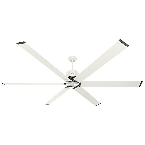 Hunter 59132 Industrial 96' Ceiling Fan with 6 Aluminum Blades, White