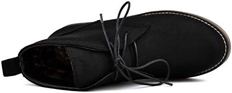 100FIXEO Womens Chukka Black Size: 10.5