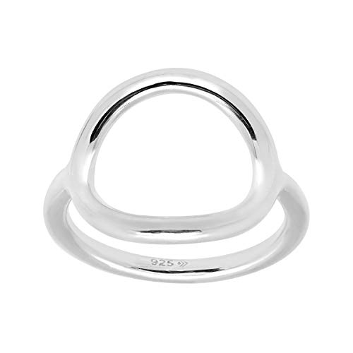 Black Circle Ring - Silpada 'Karma' Sterling Silver Ring, Size 8