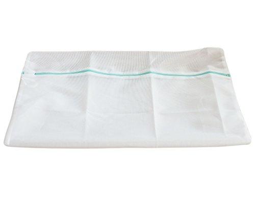 Set of 4, Laundry Washing Machine Bag White 20x24 inch, Zipper Vary Color