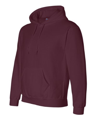 Gildan G125 DryBlend Adult Hooded Sweatshirt, Maroon, XX-Large