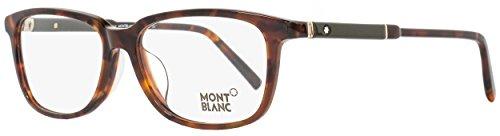 Montblanc Rectangular Eyeglasses MB620F 056 Size: 57mm Havana 620