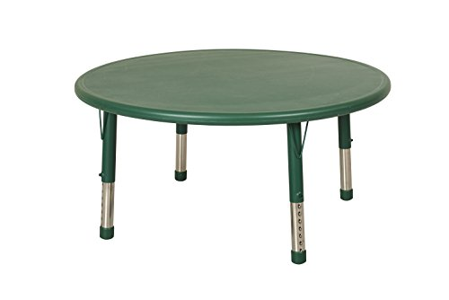 ECR4Kids 45'' Round Resin Activity Table, Green by ECR4Kids