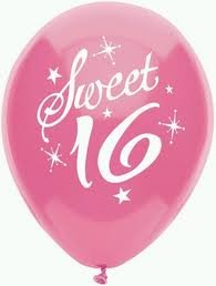 Sweet 16 Birthday Party Balloons