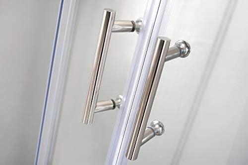 TRIPLAO mampara de Ducha eph Puerta Corredera 80 * 80 cm h195 Cristal Templado Transparente 6 mm: Amazon.es: Hogar