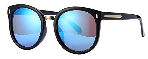 New Polarized Sunglasses for Men Women Fashion Style Glasses 2017 (black frame/blue lens, as - Sunglasses Free