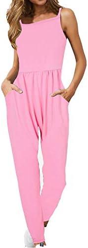 SHOPESSA Summer Business Pink Women Romper Jumpsuits Cocktail Sleeveless Elegant High Waisted Overalls for Wom