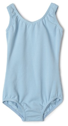 Capezio Little Girls' High Neck Tank Leotard, Light Blue, Toddler