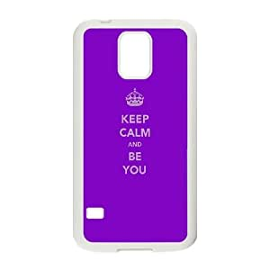 Samsung Galaxy S5 Cell Phone Case White keep calm and be you Bmqlw