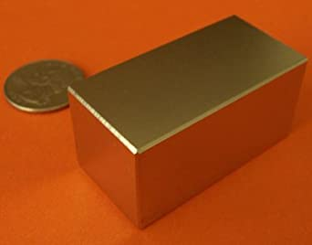 "Applied Magnets ® 2"" X 1"" x 1"" Super Strong Rare Earth Neodymium Block Magnet"