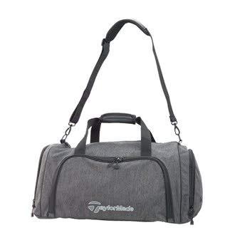 TaylorMade Golf 2018 Mens Classic Medium Duffle Bag Sports Holdall Grey/Black