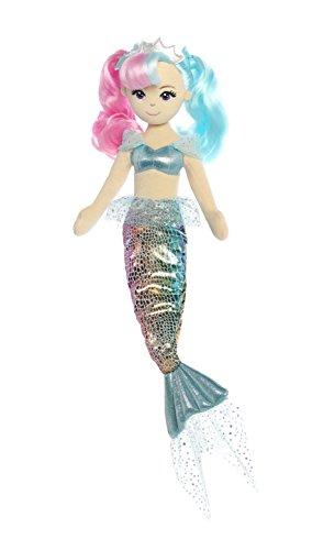 Aurora World Sea Sparkles Rainbow Mermaid Sea Lily Plush