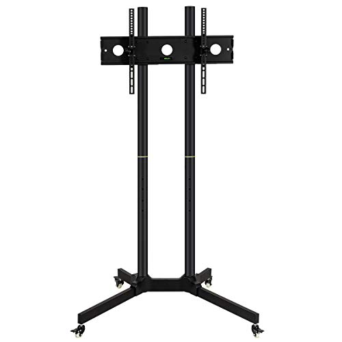 Toolsempire Height Adjustable Mobile TV Cart Rolling TV Stand for 30'' to 65'' Universal LCD LED Plasma Flat Panel Screens Within 600x400mm up to 132lbs with Wheels by Toolsempire (Image #8)