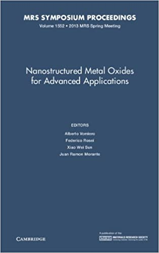 Nanostructured Metal Oxides for Advanced Applications: Volume 1552 (MRS Proceedings)