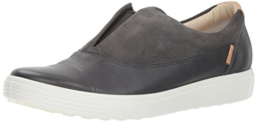 ECCO Women's Women's Soft 7 Slip-on Sneaker, Dark Shadow/Moonless Ii, 38 M EU (7-7.5 US)