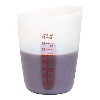 2-cup Silicone Measuring Cup with Markings - Flexible - Easy Grip - Translucent - 1ct Box - Restaurantware