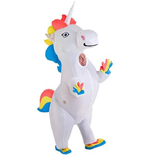 Morph Giant Inflatable Prancing Unicorn Halloween Costume for Adults