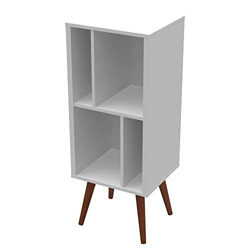 Ideaz International Next Page 23601WS Small Cubby Bookcase, White Satin