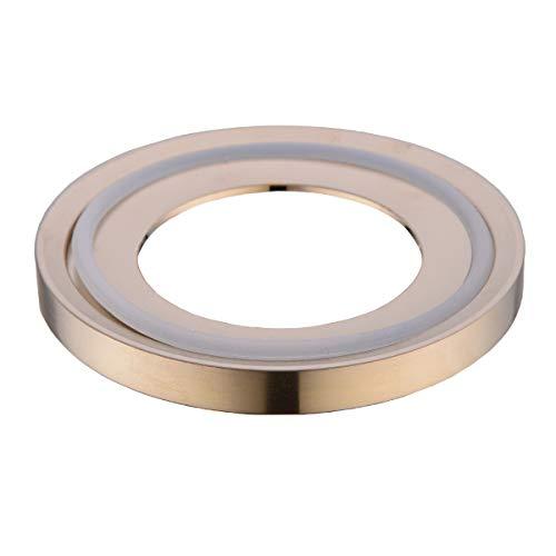 Vessel Mounting - BESTILL Brass Mounting Ring for Bathroom Vessel Sink, Champagne Bronze
